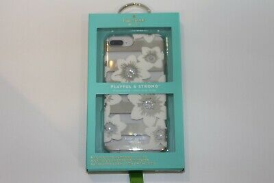 Kate Spade Hardshell Case iPhone 8 Plus / 7+ Gold Hollyhock Floral OPEN BOX