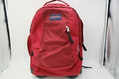 JanSport Driver 8 Core Series Wheeled Backpack Viking Red Used