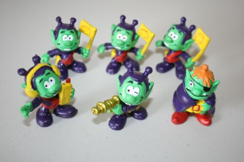 Vintage McDonald Toy Astroniks Green Alien Figures Lot Of 6 Collectible 1983-84