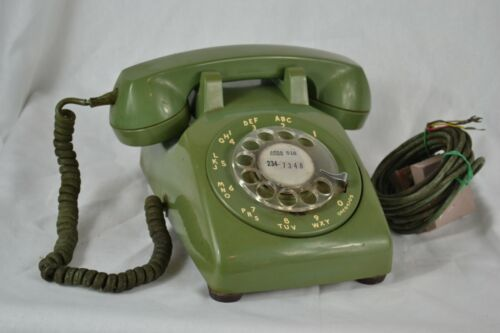 Vintage Western Electric Rotary Phone Avacodo Green Bell Systems Untested