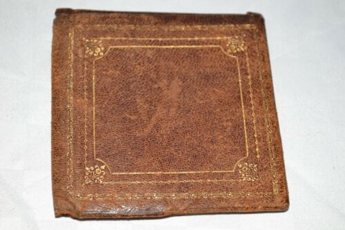 RARE! Early 1900s Antique MENS BILLFOLD Brown Leather GENTLEMANS WALLET