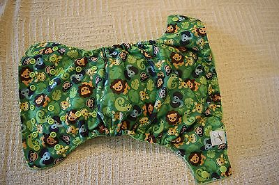 Cloth diaper WAHM Jungle Animals pattern Pocket diaper One size