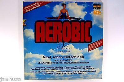 """Karussell Aerobic Vinyl Schallplatte 2 LP Set 12"""" 1982 mit Klappcover selten"""