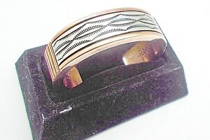 Navajo Copper & Sterling (.925) Cuff Bracelet by Johnathan Nez, NAJ#01EY
