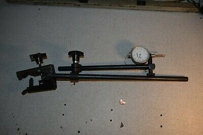 Flexbar .001 Dial Indicator Kit With Adjustable Arm Stand And Clamp Base