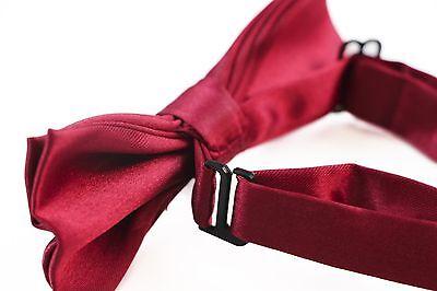 BOYS MAROON RED BOW TIE Wedding Little Baby Toddler Kids Adjustable Pretied Maroon Pretied Bow Tie