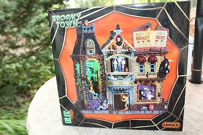 Spooky Town Halloween Store (Lemax Spooky Town Building  GRIM REAPER'S DEPARTMENT STORE Sights Sounds)