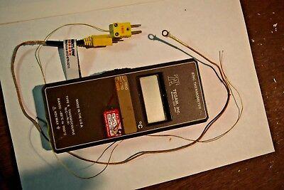 Tegam 874c Thermocouple Thermometer Deg. C Type K -85 To 1100. W 2 Tc Leads