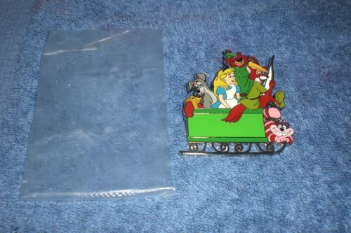 Disney  D23 Walt Disney LADY TRAMP ALICE CHESHIRE ROBIN HOOD SLEIGH LE Pin