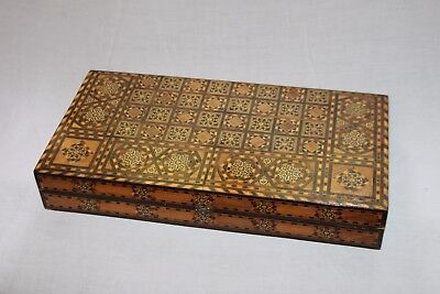Antique Box in Sealed Box Marquetry Orientale. Work Syrien. Early Xx