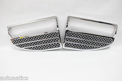 Ford F-250/350 SUPER DUTY 2005-2007 TFP Logo Vent Insert ROUNDED CHROME MESH