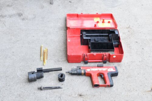Hilti DX 451 Powder Actuated Nail Gun with Case & Accessories