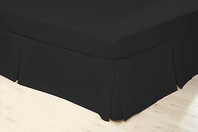 200 Thread Count Polycotton Platform Valance Sheet King Bed Size in Black
