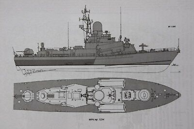 Gfk Rumpf  Sowjetische Raketenkorvette Nanuchka-Klasse Projekt 1234  in M1:60.