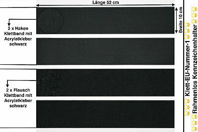 2x Kennzeichenhalter Nummernschildhalter Klett Rahmenlos unsichtbar 300 bis - Unsichtbare Passt