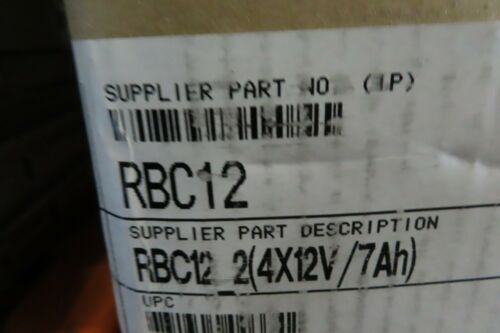 8 Pack Genuine OEM APC Replacement Battery RBC12 **1 Year  Warranty, Fast Ship