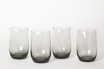 4 Saft / Wassergläser dunkel getönt,  Höhe 10 cm - Ø 6 cm (87733)