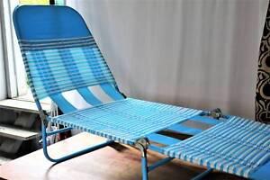 Folding Banana Lounge 47 Chair Sun Beach Day Bed Lounging