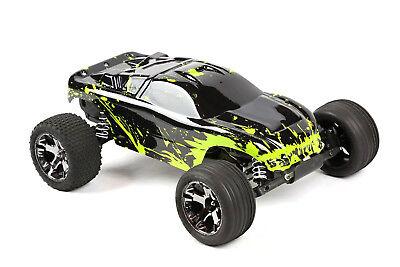 Custom Body Muddy Green for Traxxas Rustler VXL 1/10 Truck Car Shell Cover (10 Truck Body Green)