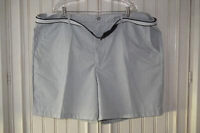 Men's Windham Pointe Golf/Dress Shorts w/belt Size 50 Light Gray 4 pockets NWT