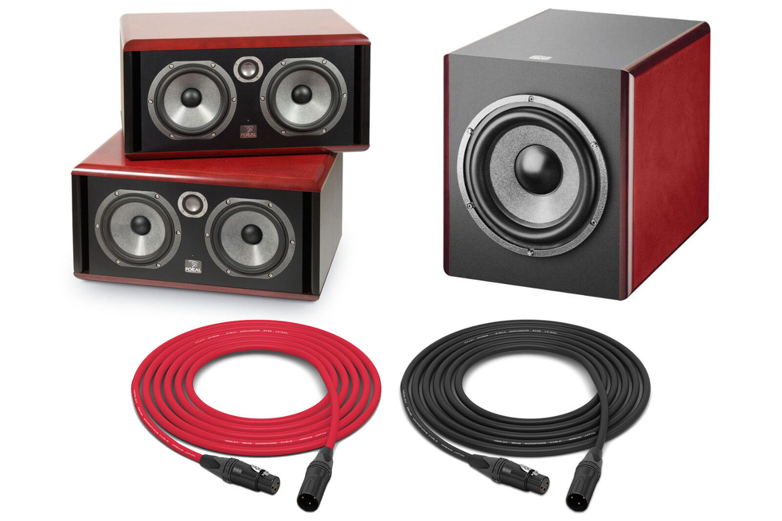 focal twin6 be sub6 monitor set pro audio la ebay. Black Bedroom Furniture Sets. Home Design Ideas