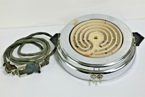 Bersted McGraw Electric Vintage Single Unit Hot Plate Model 11 Works
