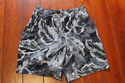 "NWT Lululemon Pace Breaker Short 9"" Lined TRSE Black White Tropical Large $68"