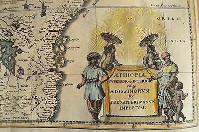 ÄTHIOPIEN Ethiopia Abessinien (Abyssinia): Kupferstich von 1636 Hondius Jansson