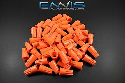 100 Pcs Wire Twist Cap 2214 Gauge Terminal Connector Splice Awg Orange Wnor