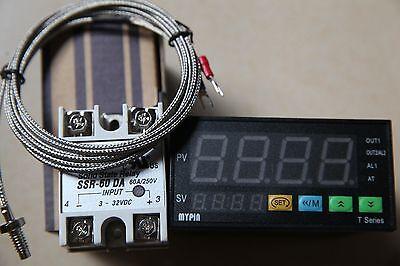Digital Fc Pid Temperature Controller Thermostat Ta8-snr 2m K Sensor 60a Ssr