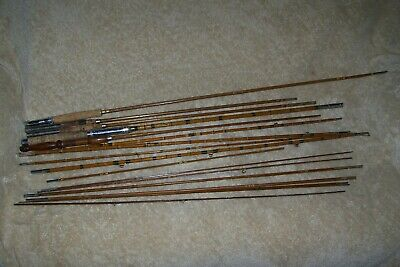 LOT OF ASSORTED VINTAGE BAMBOO FLY ROD PIECES