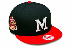 New Era Milwaukee Braves Snapback Hat Cap 1957 World Series Side Patch mlb