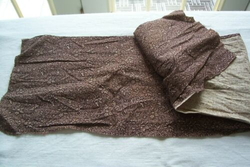 Vtg Antique Chocolate Brown 1850
