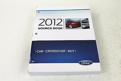 Oem Ford   2012 Car Crossover Suv Source   Specification   Model Info Book