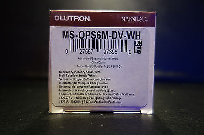 Lutron Maestro Switch with Sensor MS-OPS6M-DV-WH