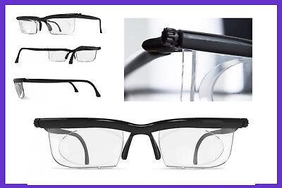 Brille mit Dioptrien individuell einstellbar -6 bis +3 18g Lesebrille