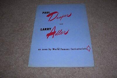 c.1946 Draper & Adler Illustrated Program, Al Hirschfeld