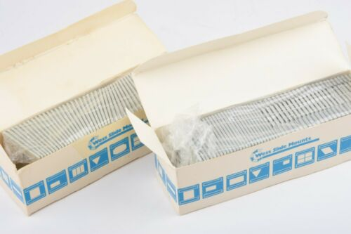NIB 2X BOXES OF 50 (100 TOTAL) WEISS 4SPR 35mm SLIDE MOUNTS w/GLASS