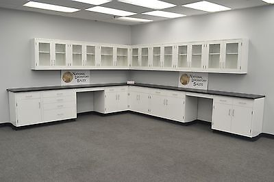 Laboratory Furniture 29 Base 24 Wall Cabinets  Storage In Stock -e1-095