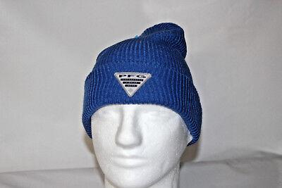 Columbia PFG Watch Cap Knit Beanie in Vivid Blue OSFA w Free Decal a4b3d19d053