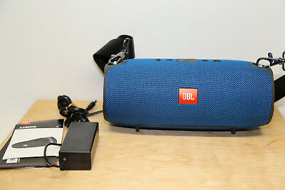 Xtreme Sound Box (JBL Xtreme Bluetooth Lautsprecher-Soundbox Wasserfest in Blau Wie neu Zustand)