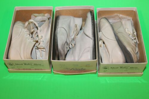 Vintage Baby Shoes Lot of 3 - WITH ORIGINAL BOXES