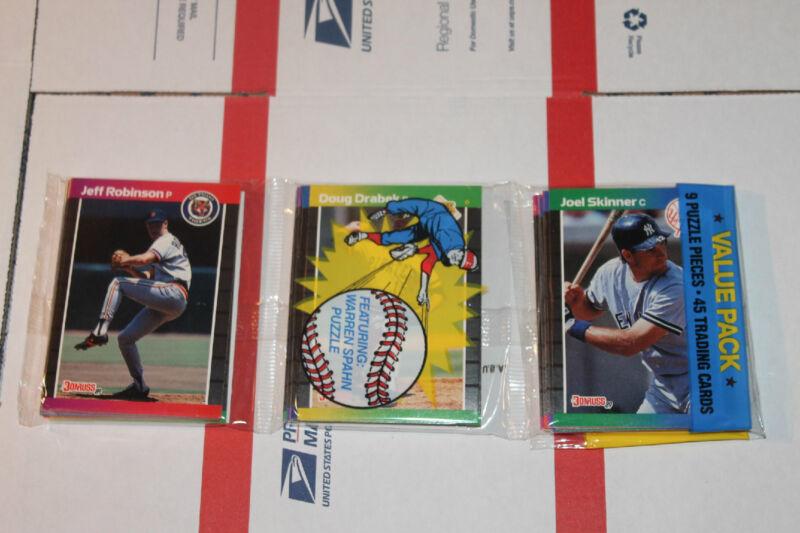 1989 Donruss Rack  Baseball Packs!! Vintage Unopened Lot.
