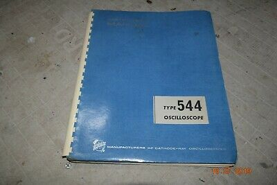 Excellent Vintage Tektronix Type 544 Oscilloscope Instruction Manual