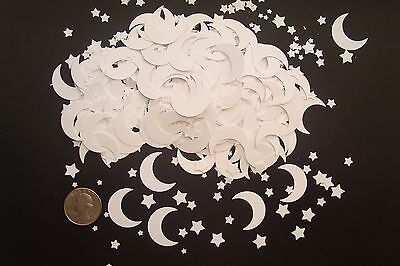 100+ WHITE MOON AND STARS DIE CUTS PUNCHES CONFETTI SCRAPBOOKING