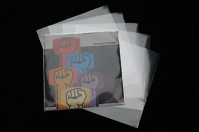 100 St. 7 Zoll Single Schutzhüllen Glasklar 185x185 mm outer Sleeves Vinyl
