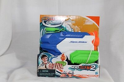 Super Soaker Nerf #A9461 Microburst 2  Water Blaster Brand New Fun Water Toy
