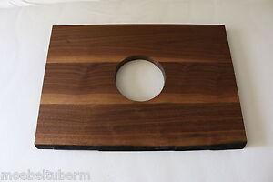 waschbecken tischplatte platte nussbaum massiv holz mit baumkante brett leimholz ebay. Black Bedroom Furniture Sets. Home Design Ideas