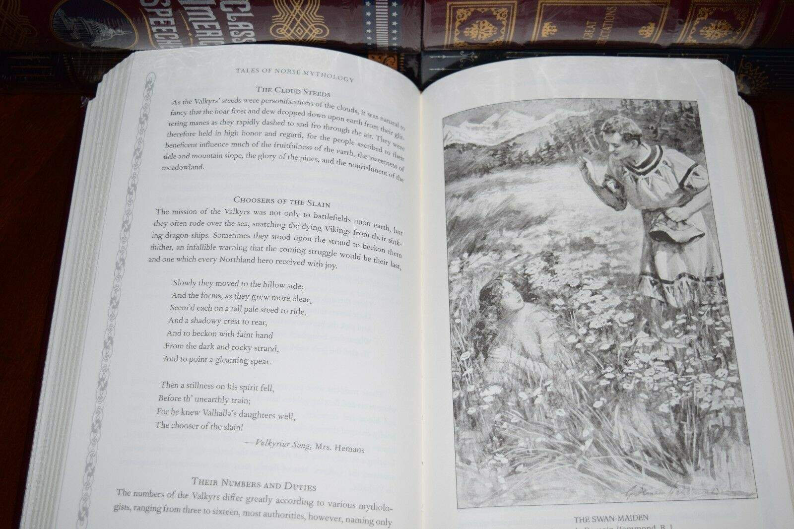 Tales of Norse Mythology Viking Tales Illustrated New Sealed Leather Bound Gift
