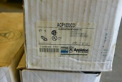 Appleton Acp1033cd 100 Amp Powertite 3p 3w 600v Plug - New In Box